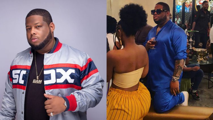 Photo of D-Black and his heavily back side girlfriend receive massive reactions from fans