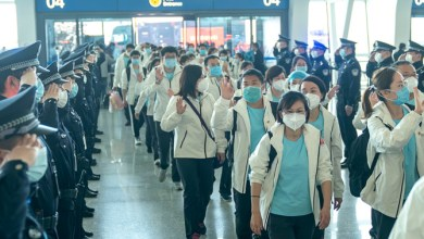 First medical teams return from Wuhan