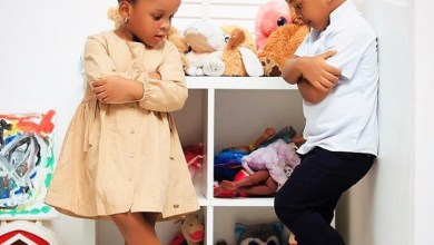 Adorable photos of Paul and Anita Okoye's twins released to celebrate them as they turn 3