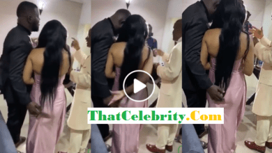 Groom Grabs and Squeezes Bride's Buttocks While Saying 'Amen' to Pastor's Prayer (VIDEO)