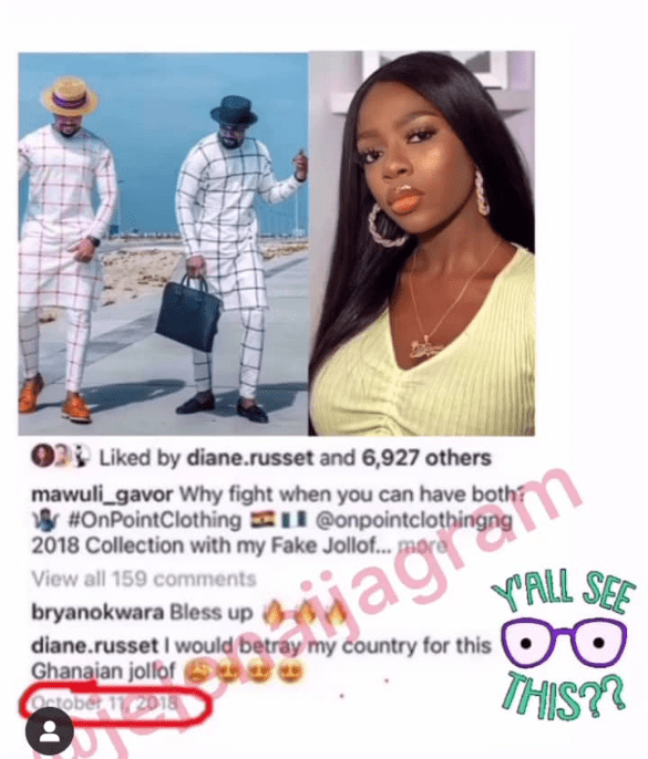 Diane betrayed Nigeria in 2018 just to have a taste of Mawuli Gavor