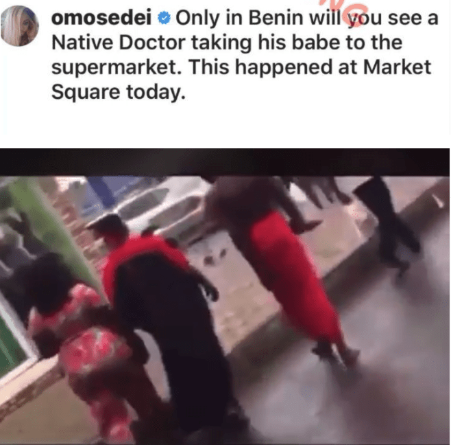 Native Doctor Spotted Taking His Girlfriend' Shopping In Nigeria