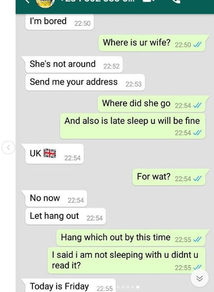 Leaked Whatsapp Chat Between a Man and his Ex Girlfriend