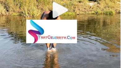 Zodwa Wabantu Takes A Bath In A River