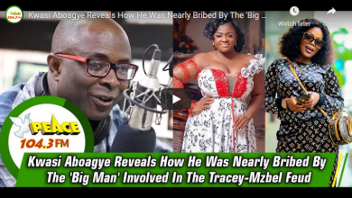 Tracey Boakye & Mzbel Sugar Daddy Storms Peace FM's Kwasi Aboagye Pocket with Huge Somes of Cash to kill the story -Video