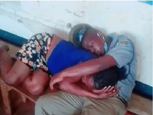 Officer caught sleeping with a woman on duty