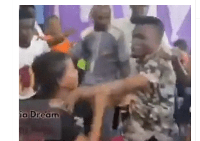 Drama as possessed woman beats up pastor in church