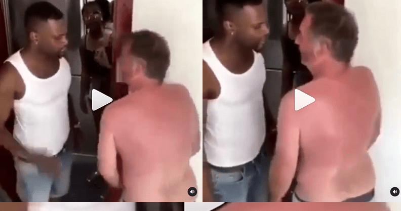 Ghanaian Man Gives Italian Man Dirty Slaps After He Chopped His Girlfriend