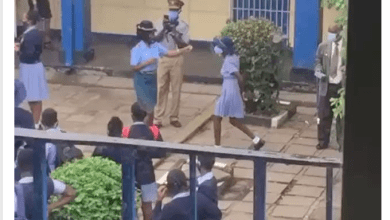 Watch Videos Of Police Woman Slapping Students Not Wearing Masks