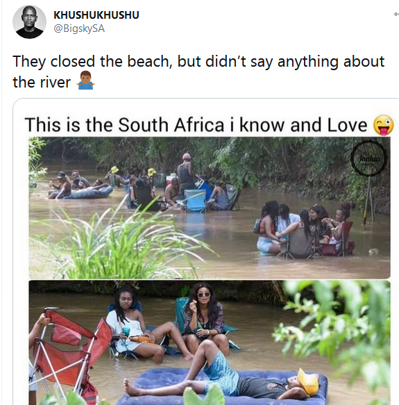 South Africa finds other ways to cool down after President Ramaphosa closes the beaches