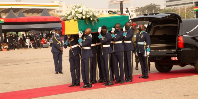 Burial service held for Former Ghanaian President Jerry John Rawlings