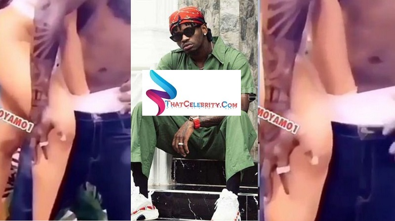Diamond Platnumz Records Video While Chewing One of His Video Vixens, Watch Here