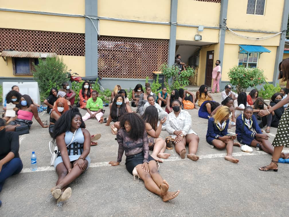 Police command parade 237 Slay Queens and their boyfriends arrested for parting in Club, charge them to court