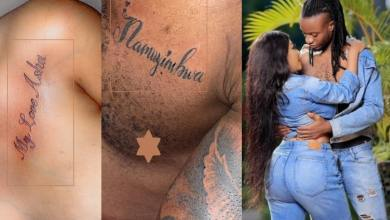 Drunk In Love Bad Black Gets a Tattoo of Asha's Name as He Also Gets Her's on His Chest