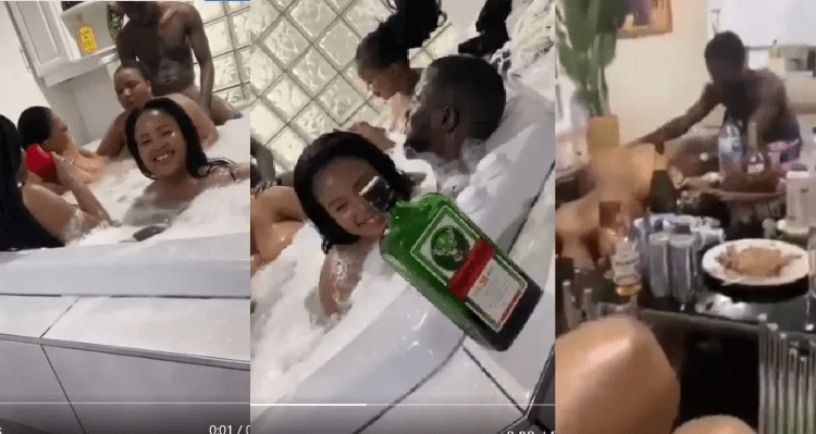 South Africa Slay Queens Doing Lock down Sex Party For Nigerian Guys