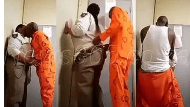 New details emerge about a prisoner who was having sweet sex with Prison Warder: He is serving for r@pe. And the intimate moment was caught on camera, with the video making waves on social media