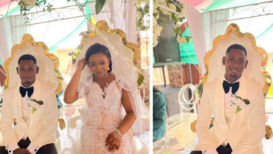 Video and Photos of how Soldiers storm Richard Agu and Benedicta's white wedding