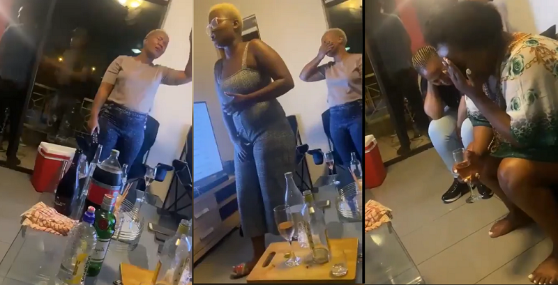 Slay Queens Praying, Speaking In Tongues During Wild Partying and Boozing -Video