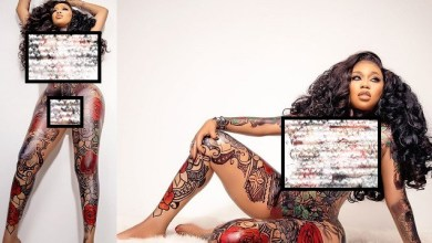 Toyin Lawani goes completely naked
