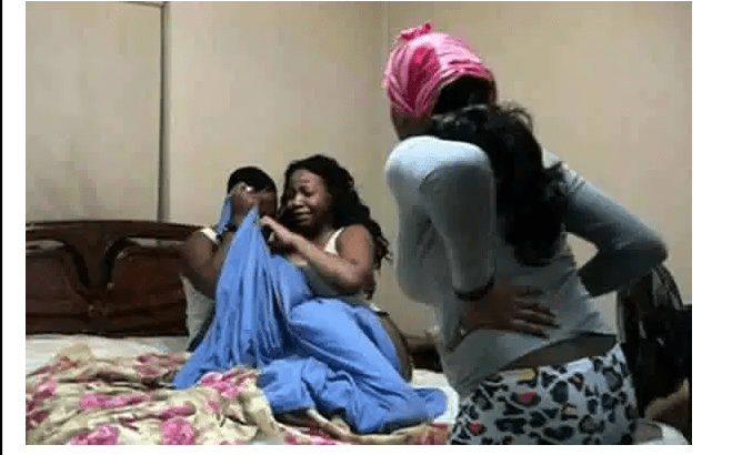 Shock As Women Catches Husband chewing Her Younger Sister