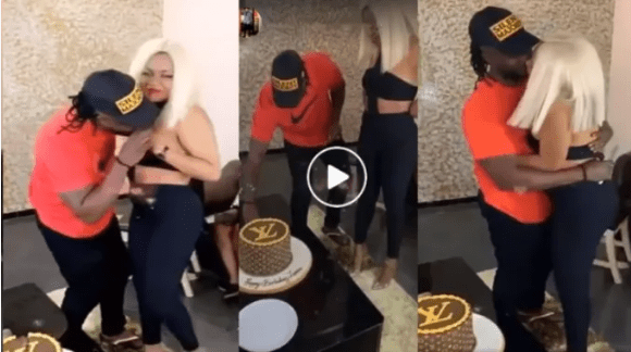 Bebe Cool Plants Kisses On Zuena's Boobs As She Cuts BD Cake