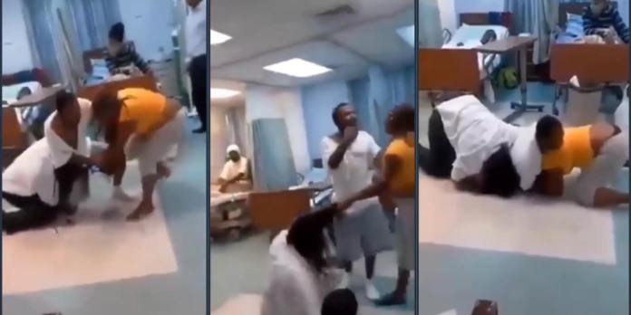 Side chic & Main chic fight it out in a hospital over who would be beside their sick boyfriend