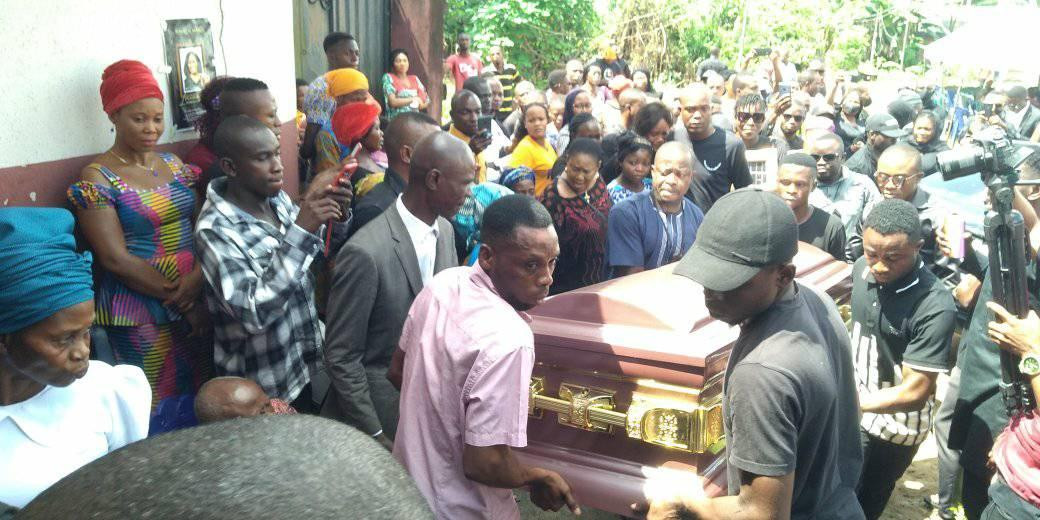 Photos from the funeral of Iniubong Umoren, the job seeker who was raped and killed