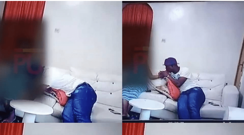 Watch the CCTV footage of Baba Ijesha trying to chop his 14-year-old victim