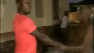 naked man and escorts him to his family after catching him sleeping