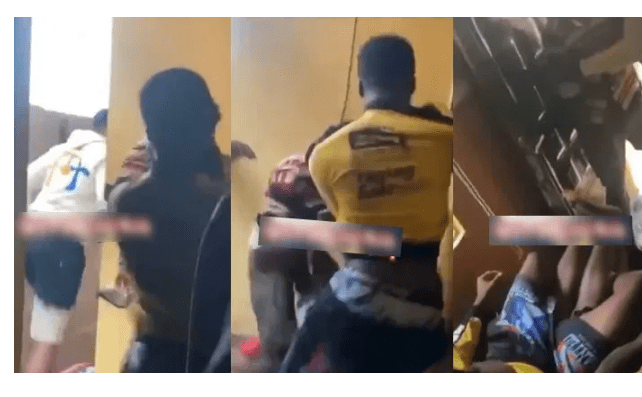 Guy beats the hell out of his friend after he caught him chopping his girlfriend (Video)