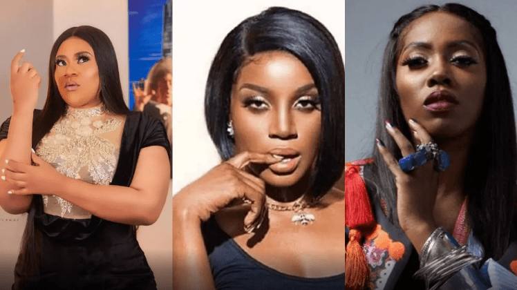 'I will beat you' – Nkechi Blessing blows hot over Tiwa Savage and Seyi Shay's public fight
