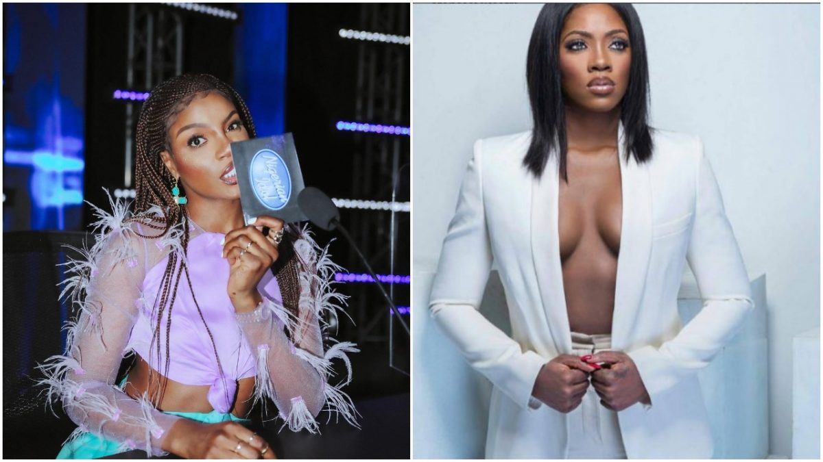 """Your yansh is the dirtiest in the industry"""" – Tiwa Savage, Seyi Shay fight dirty in a salon (video)"""