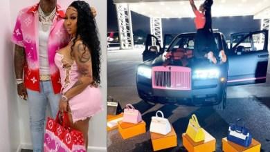 US rapper, Moneybagg Yo gifts his girlfriend Ari Fletcher a custom Rolls-Royce and five Birkin bags on her birthday