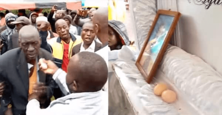 Burial stopped after mourner is caught putting eggs inside coffin