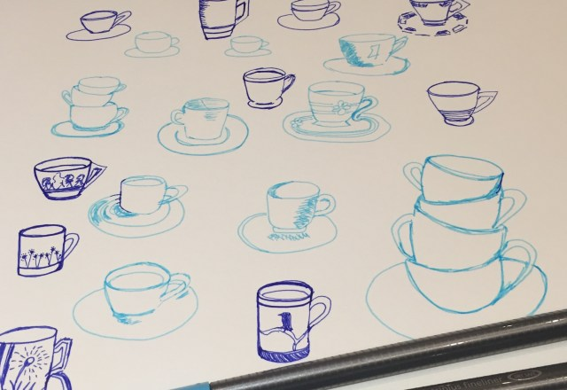 Continuous Sketching Cups