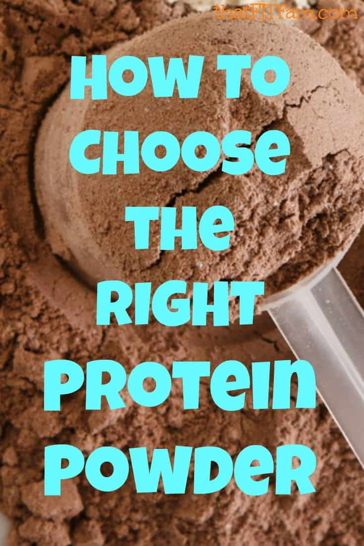best tips for choosing the right kind of protein powder supplement