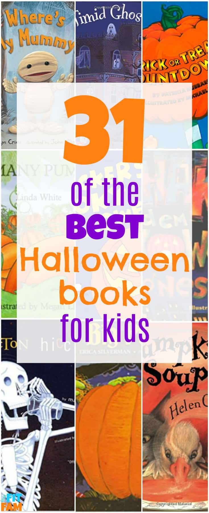 31 of the best halloween books for kids! read one before bed each night in October for a fun family tradition!