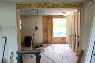 Widened Entry To Kitchen