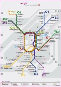 como ir em trem ao centro de Madrid
