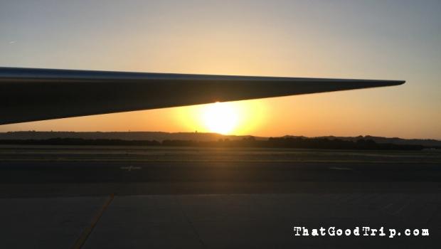 Chegada ao aeroporto de Madrid