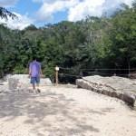John at the virgin sacrifice pit (natural sink hole)