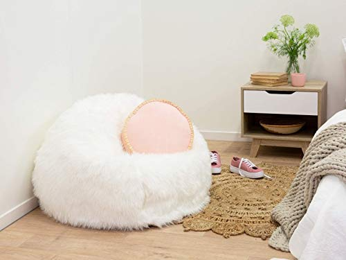 bean bag white fur cover