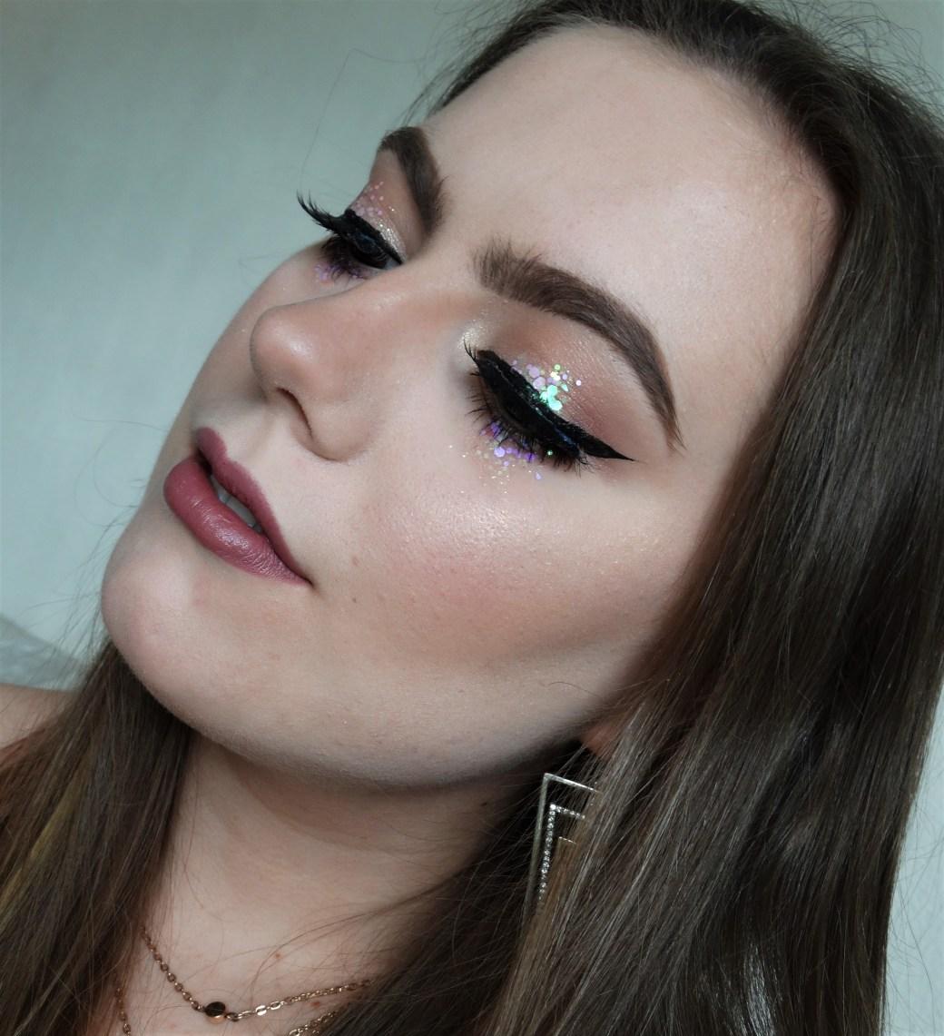 festival makeup glitter tears
