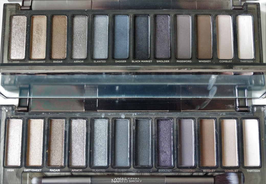 real vs fake urban decay naked smoky palette