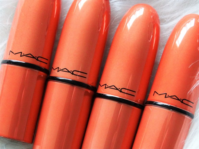 review MAC shiny pretty things lipstick set