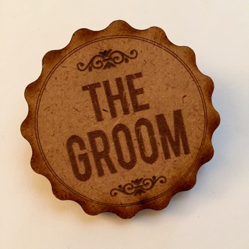 Wooden The Groom Boutonniere