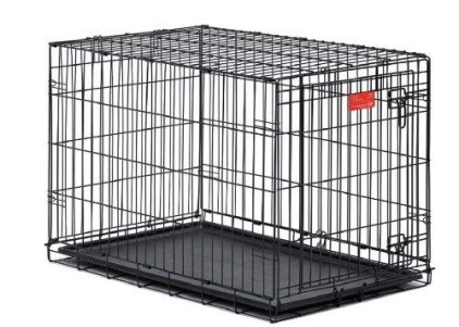 Fold up wire dog crate