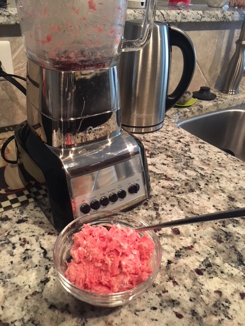 Raw dog food on a budget - blending chicken wings