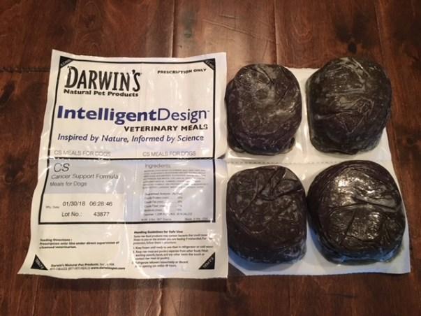 Darwin's raw dog food cancer support formula Intelligent Design