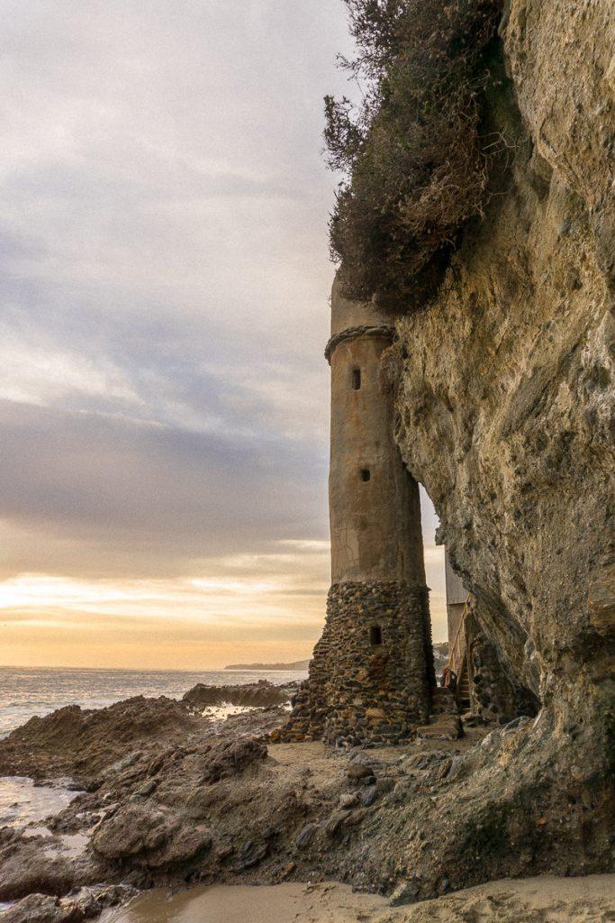 Laguna Beach Pirate Tower on Victoria Beach